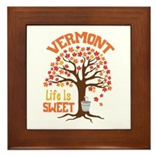 VERMONT Life Is SWEET Framed Tile