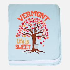 VERMONT Life Is SWEET baby blanket