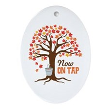 Now ON TAP Ornament (Oval)