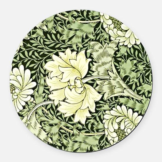 Morris - Chrysanthemum Round Car Magnet