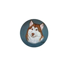 Alaskan Malamute Red & White Mini Button (100 pack