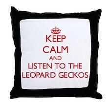 Keep calm and listen to the Leopard Geckos Throw P