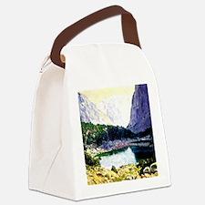 Twin Lakes, High Sierras - painti Canvas Lunch Bag