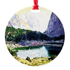 Twin Lakes, High Sierras - painting Ornament