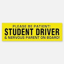 Student Driver And Parent (bumper) Bumper Bumper Bumper Sticker