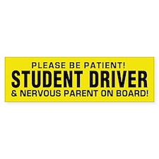 Student Driver And Parent Bumper Sticker