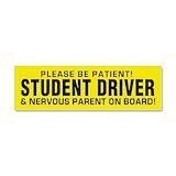 """Student driver nervous parent 3"""" x 10"""""""