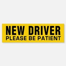 New Driver - Be Patient (bumper) Bumper Car Car Sticker