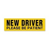 "New driver car magnet 3"" x 10"""