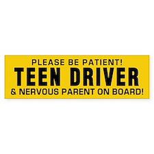 Teen Driver And Parent Bumper Sticker