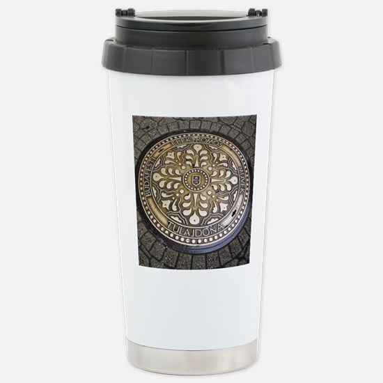 manhole covers, budapest, Travel Mug