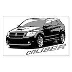 Caliber B&W Rectangle Sticker