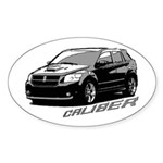 Caliber B&W Oval Sticker