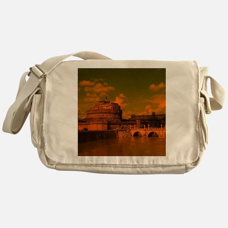 rom dramatic light Messenger Bag