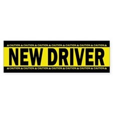 New Driver! Caution! Bumper Sticker