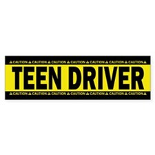 Teen Driver! Caution! Sticker (Bumper 10 Pk)
