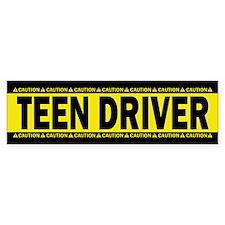 Teen Driver! Caution! Bumper Sticker