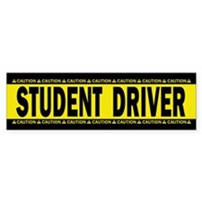 Student Driver! Caution! Sticker (Bumper 10 Pk)