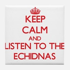 Keep calm and listen to the Echidnas Tile Coaster