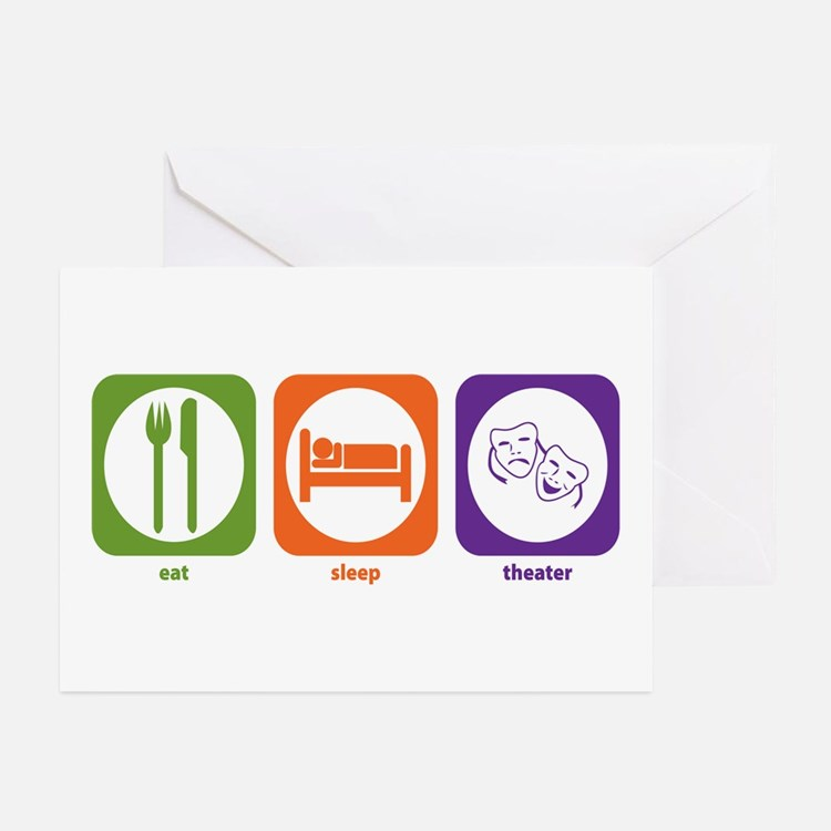 Eat Sleep Theater Greeting Cards (Pk of 10)