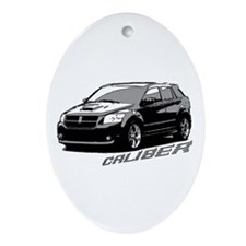 Caliber B&W Oval Ornament