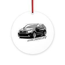 Caliber B&W Ornament (Round)