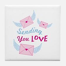 Sending You LOVE Tile Coaster