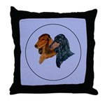 Dachshund Duo Throw Pillow