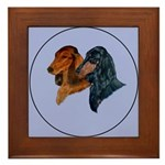 Dachshund Duo Framed Tile