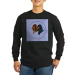 Dachshund Duo Long Sleeve Dark T-Shirt