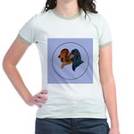 Dachshund Duo Jr. Ringer T-Shirt