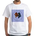 Dachshund Duo White T-Shirt