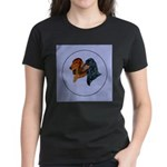 Dachshund Duo Women's Dark T-Shirt