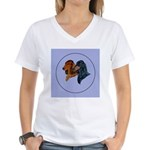 Dachshund Duo Women's V-Neck T-Shirt