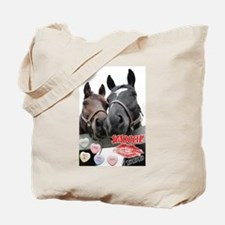 Valentine Horses Tote Bag
