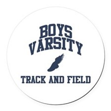 Boy's Varsity Track and Field Round Car Magnet