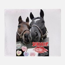 Valentine Horses Throw Blanket