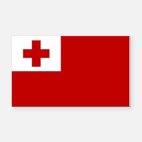 Tonga Flag Rectangle Car Magnet