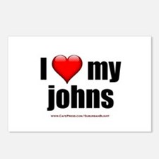 """Love My Johns"" Postcards (Package of 8)"