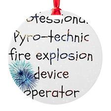 Fireworks operator Ornament