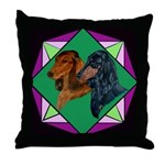 Dachshund Pair Throw Pillow