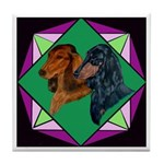 Dachshund Pair Tile Coaster