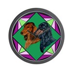 Dachshund Pair Wall Clock