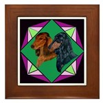 Dachshund Pair Framed Tile