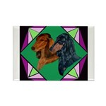 Dachshund Pair Rectangle Magnet (100 pack)