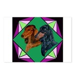 Dachshund Pair Postcards (Package of 8)