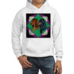 Dachshund Pair Hooded Sweatshirt