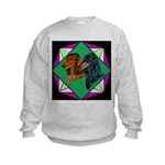 Dachshund Pair Kids Sweatshirt