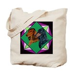 Dachshund Pair Tote Bag