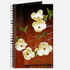 White dogwood flowers Journal